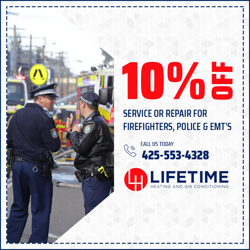 10% off Service or Repair for Firefighters, Police and EMT's