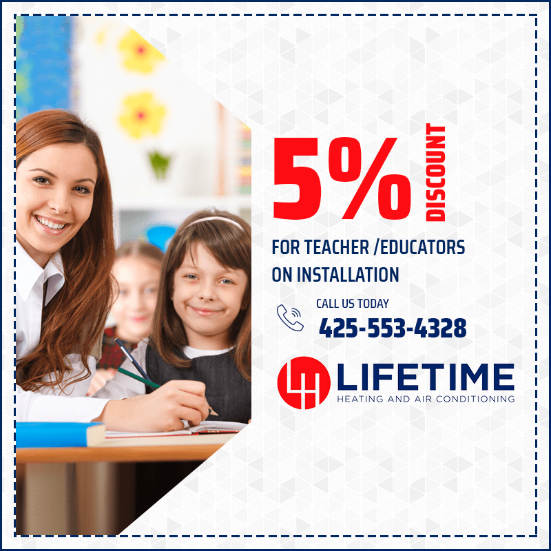 5% Discount for teacher and educators on installation