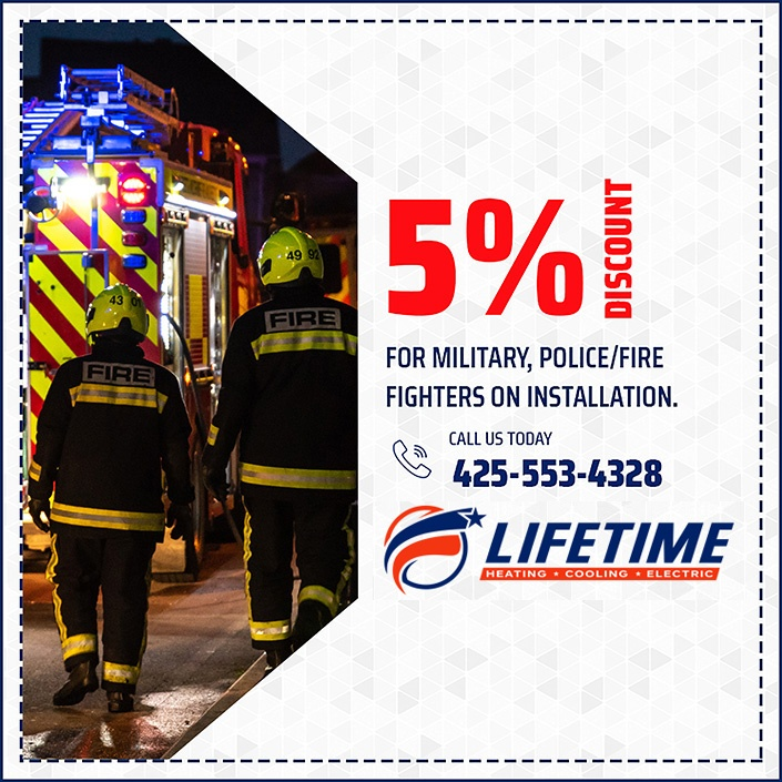 5% Discount for military, police/fire