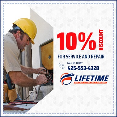 10% discount for service and repair.
